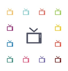 Tv flat icons set vector