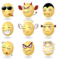 Eggs emotions set2 vector