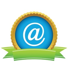 Gold email logo vector