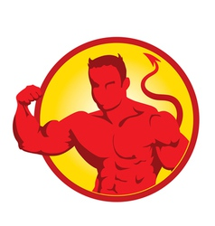 Devil bodybuilder3 vector