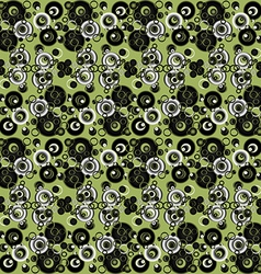 Green abstract background with circles vector