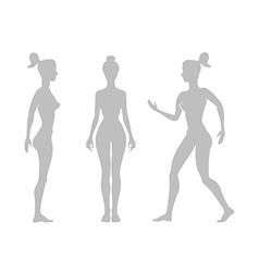 Silhouette woman on a white background vector
