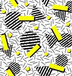 Retro fashion 80s seamless pattern background vector