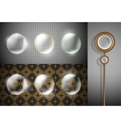 Soap bubbles set vector