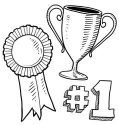 Doodle awards winner vector