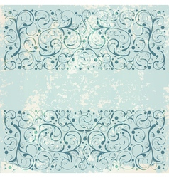 Vintage floral decorative background vector