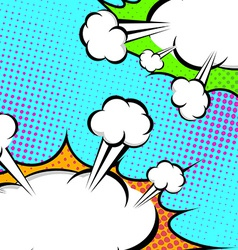 Pop-art speech clouds abstract retro style banner vector