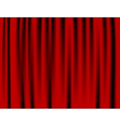 Luxury creases red curtain and many shadows vector