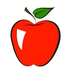 Icon of apple vector