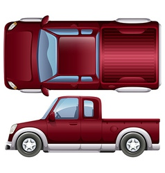 A pickup vehicle vector