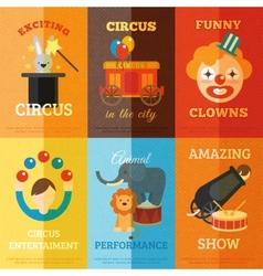 Circus poster set vector