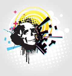 Abstract skull art vector