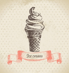 Ice cream hand drawn vector