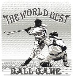 World best ballgame vector