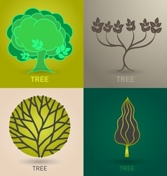 Trees nature vector