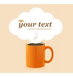 Coffee cup with text vector