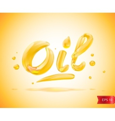 Oil liquid text vector
