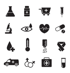 Thin line medical set icons concept design vector