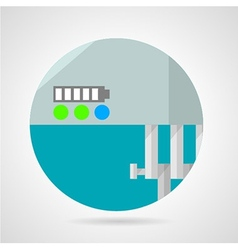 Battery charge level flat icon vector