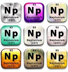 A button showing the element neptunium vector