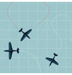 Flying planes vector