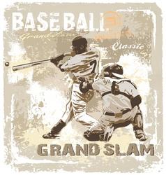 Baseball grandslam classic vector