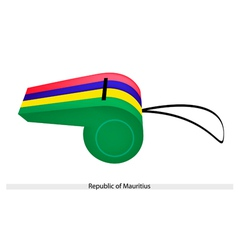 A whistle of the republic of mauritius vector