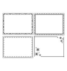 Decorative ornamental frames - set vector