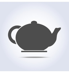 Teapot icon in gray colors vector