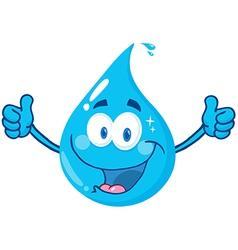 Smiling water drop vector