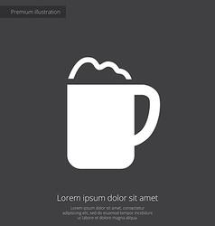 Cappuccino premium icon white on dark background vector