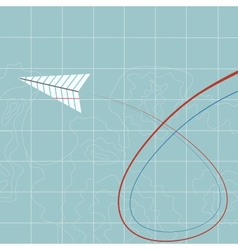Flying paper plane vector