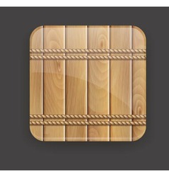 Wooden icon vector