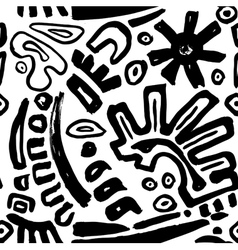 Bw pattern hand drawn vector