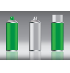 Green spray can vector