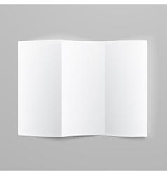 Blank trifold paper z-folded brochure vector