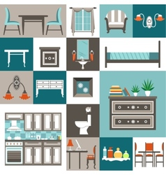 Set furniture vector