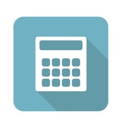 Square calculator icon vector