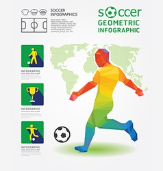Soccer infographic geometric concept design vector