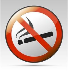 No smoking prohibition sign vector