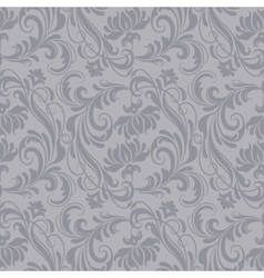 Gray baroque pattern vector
