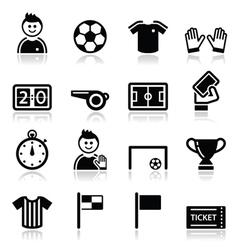 Soccer football icons set vector