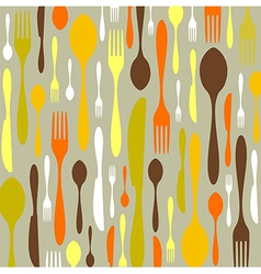 Cutlery pattern vector