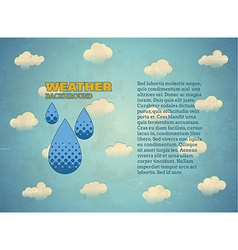 Aged vintage card with rain drops vector