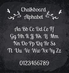 Chalked alphabet vector