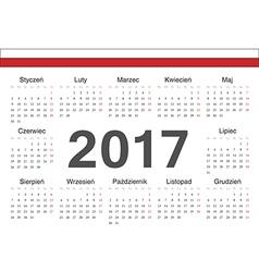 Circle polish 2017 year calendar vector