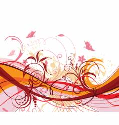 Background-flower vector