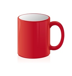 Red coffee cup isolated on white vector
