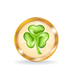 Trefoil icon isolated for saint patrick day vector