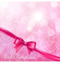 Abstract background with bow vector
